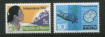 Nauru: 1968 Independence set of 2 stamps SG94-95 MNH AN167