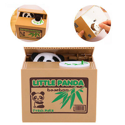 Bank Xmas Itazura Box Saving Bank Stealing Panda Piggy Coin Automated Gift Money