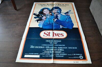 CHARLES BRONSON St. Ives 1976 Jacqueline Bisset Film Poster 27 x 40.5 inches