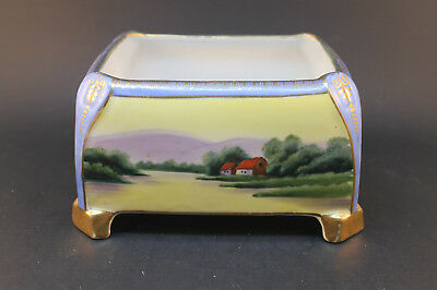 Vintage Hand Painted Nippon Porcelain Rectangle Container