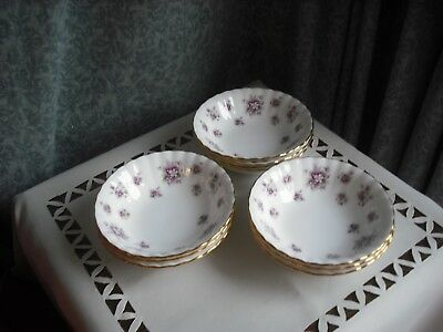 Royal Albert Bone China Lot Of 3 - Mini Dessert Dishes- Sweet Violets Design-Vgc