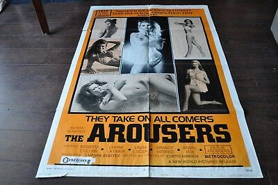 THE AROUSERS 1973 Roberta Collins Film Poster 27 x 40.5 inches
