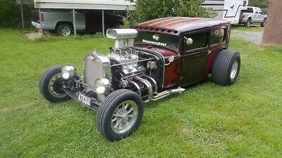 1930 Ford Model A 2 door 1930 Ford Model A two door sedan street rod hot rod custom blown