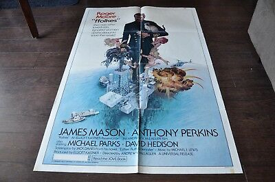 FFOLKES Roger Moore Anthony Perkins 1979 Film Poster 27 x 40.5 in