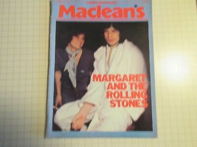 March 1977 Maclean's Magazine Margaret and The Rolling Stones Mick Jagger