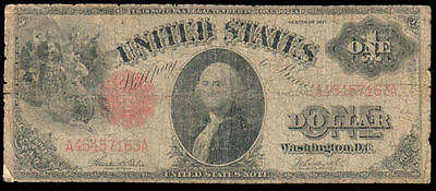 1917 Series $1 Large Size United States Note Fr 36 A 46457163 A