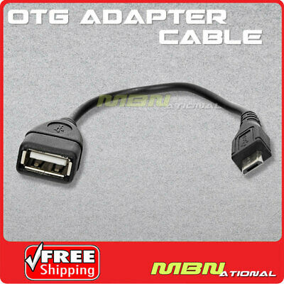 Black Micro USB Host OTG Adapter Cable Cord for Samsung Galaxy S4 i9500 USA