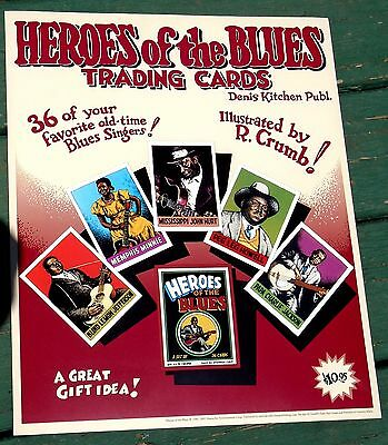 Heroes Of The Blues Trading Card Poster Nm! Rare-R. Crumb