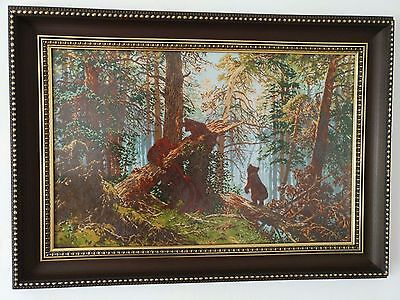 Kreuzstich Stickbild Reproduction Ivan Shishkin Completed cross stitch LARGE