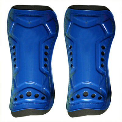 PF Blue Durable New 1 Pair Competition Pro Soccer Shin Guard Pads Shinguard Prot