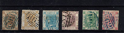 HONG KONG-1862-3 - SG1-6 - 2c to 48c - used - 12c is poor - Cat over £750