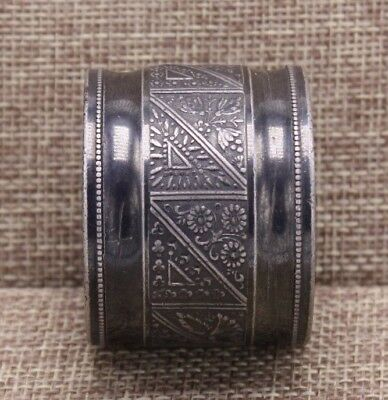 Victorian Worn Silver Plate Antique Vtg Aesthetic Raw Metal 1800s Napkin Ring