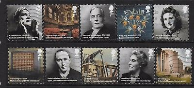 1) GB Stamps  2012 Britons of Distinction Full Set Good Used.