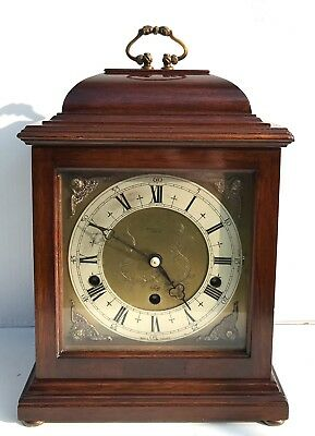 Elliott Mahogany Vintage Quarter Chiming Bracket Clock
