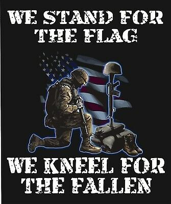 We Stand For The Flag and kneel For the Fallen Tool Box Bumper Sticker Vinyl NFL