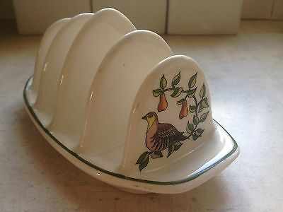 Wade Royal Victoria Pottery PARTRIDGE IN PEAR TREE Toast Rack