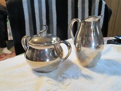 Elegant Reed & Barton Silverplated Cream & Sugar #7036>>GORGEOUS CONDITION