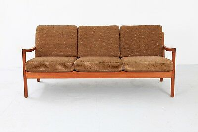 Sofa 3-Seater Ole Wanscher CADO France & SON danish modern Teak 1950s 50er