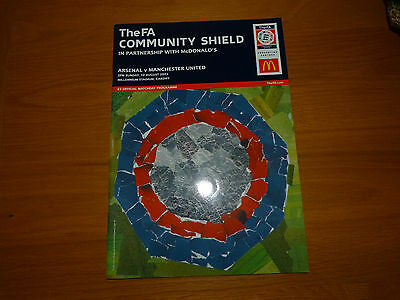 *REDUCED*  MANCHESTER UNITED v ARSENAL 2003 CHARITY SHIELD PROGRAMME