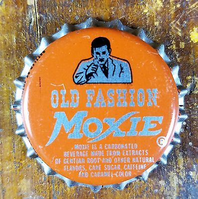 Old Fashion Moxie Soda Pop Young Man Logo New Old Stock Cork Lined Bottle Cap
