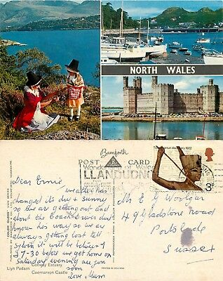 a2412 North Wales, Wales postcard posted 1972 stamp