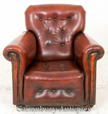 Art Deco Reclining Leather Club Chair Arm Chairs 1930