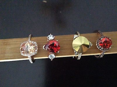 Fragrant Jewels Rings ~ Size 7 ~ Lot of 4