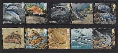 1) GB Stamps 2014  Sustainable Fish Full Set. Good used.