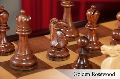 The Reykjavik II Series Tournament Chess Set and Tiroir Combination - Golden Ros