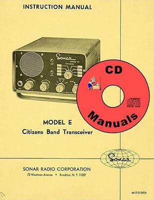SONAR Model H,  CD OWNERS MANUAL + Schematic CB Radio Book on CD