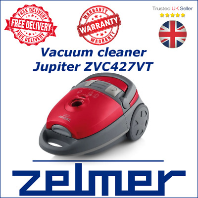 NEW Zelmer Jupiter ZVC427VT red VACUUM CLEANER turbo XL bag carpet expert high