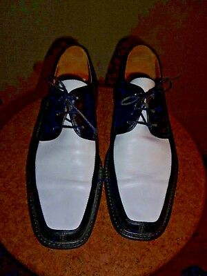 Black And White Clarks Men's Shoes Mod Ska Leather Size 9 Worn Once