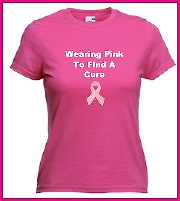 Pink T Shirt Find A Cure Breast Cancer  Charity Wear it Pink Friday Unisex Top
