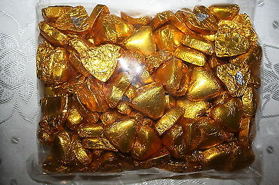 Andre Milk Chocolate Hearts GOLD COLOR 400g approx 50 Pieces Bag