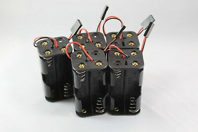 5 x 6v AA Battery Holder Pack 4x AA  with Futaba Connector