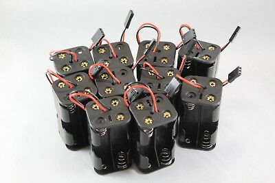 10 x 6v AA Battery Holder Pack 4x AA with Futaba Connector