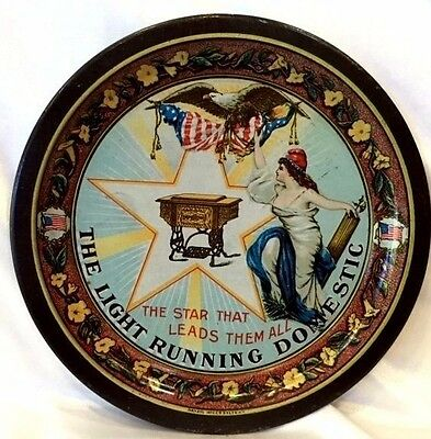 The Light Running Domestic Sewing Machine Star Advertising Tip Tray Eagle Flag