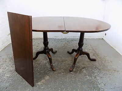 small,georgian,style,mahogany,D end,extending,dining table,twin pedestal,table