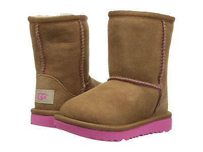 0f2f6a554d8 NEW UGG BOOTS Infant Toddler Classic Ii Chestnut Pink Azalea Authentic  1017703T
