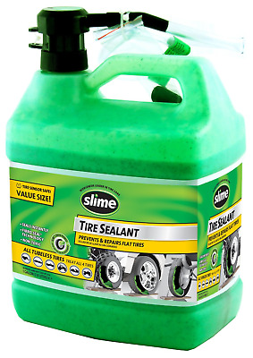 Slime Tubeless Repair Flat Tire Sealant Puncture Cleans Easy With Water 1 Gallon