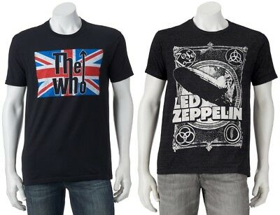The Who British Flag Led Zeppelin Band T-Shirt - Men's S M L XL XXL - New w/Tags