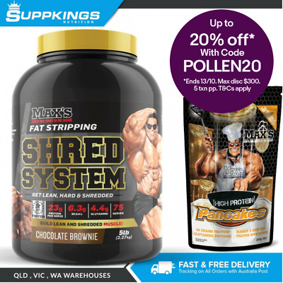 Maxs Shred System Thermogenic Protein Powder 2.27Kg / 5Lb /Whey Protein/ 75 Ser