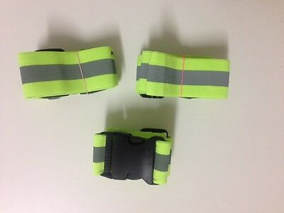 *3 x Safety Reflective Strap Band Arm Waist Night Reflective Belt*