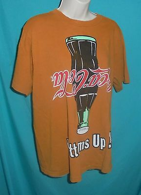 Vintage 1994 Coca Cola T-Shirt Bottoms Up ! Coke 100% Cotton Size Large Bottle