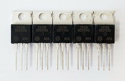 5pcs MBR20100CT 100V 20A Schottky Barrier Rectifier Diode TO220 Common Cathode