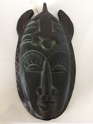 Wooden 12inch Hanging Wall Mask