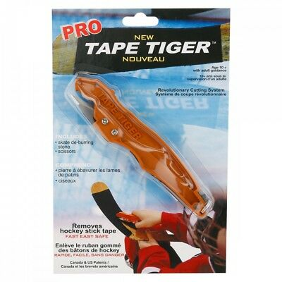 Tape Tiger Pro Deluxe Hockey Blade Tape Cutter Remover! New, Safe Easy and Quick