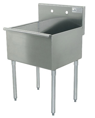 New! Advance Tabco Utility Sink, Stainless Steel, Floor Mount, 4-1-24-Gr