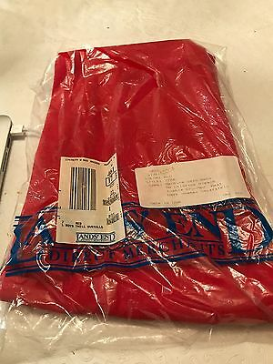 Older Lands' End Red Boy's Twill Overalls 6x NIB