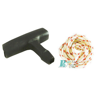 Starter Rope Pull Cord W/ Handle Grip Kit Fits STIHL 038 MS380 MS381 Pull Start